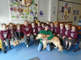 Mrs McGinley's Class Visit Knockanboy Veterinary Clinic in Coleraine